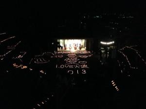 日奈久温泉神社で火流の彩(ひなぐのいろ)